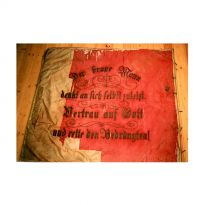 Vereinsfahne der Feuerwehr Schwandorf vor der Konservierung