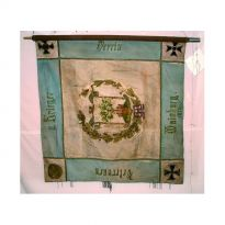 Vereinsfahne des Veteranen- und Kriegervereins Mainburg vor der Konservierung