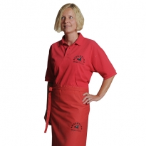 embroidered polo and apron