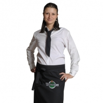 waitress's blouse and apron embroidered, necktie