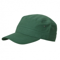 military cap in cotton canvas