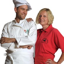 Company wear for gastronomy, handicraft or business