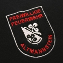 embroidery of the club logo of a firebrigade