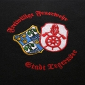 town and firebrigade crest, embroidered