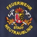 colorfully embroidered logo of a firebrigade