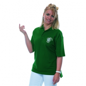 polo shirt with embroidered club motive