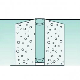 schematic description of a ground tube in concrete