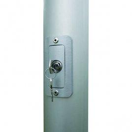 lockable hard PVC door with cylinder locker