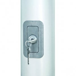 abschließbare Hartkunststofftüre mit Zylinderschloss