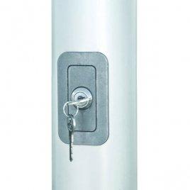 lockable hard PVC door with cylinder lock