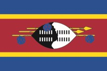 The flag of the Kingdom of eSwatini