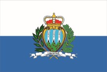 country flag of San Marino with crest