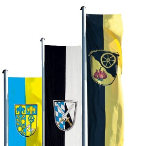 municipality hoisting flags