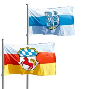municipality hoisting flag