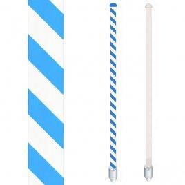 wei�-blaue Wendelung oder ganz wei�er Mast