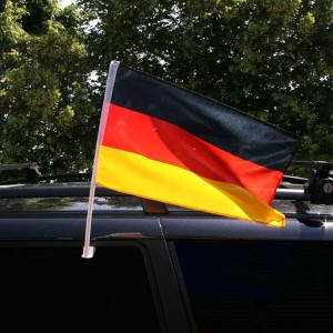 Carflags with plastic holder for the car window