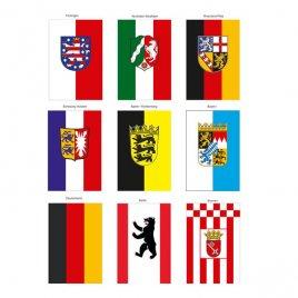 deutsche Bundesländer und Deutschland Tischfähnchen