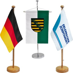 Table flags and table banners for nations, states or with special motive