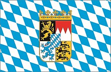Flag Bavarian rhombs with crest