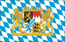 Flag Bavarian rhomb with lions and crest