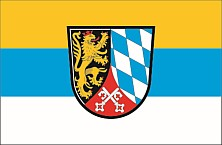 Oberpfalz flag with crest