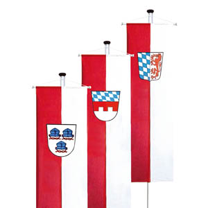 Banner flags for towns and municipalities