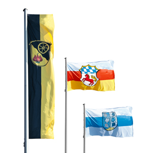 Hoisting flags for cities and municipalities