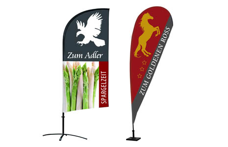 printed beachflags with your advertising message