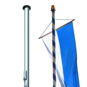Flagpoles made of aluminium or wood