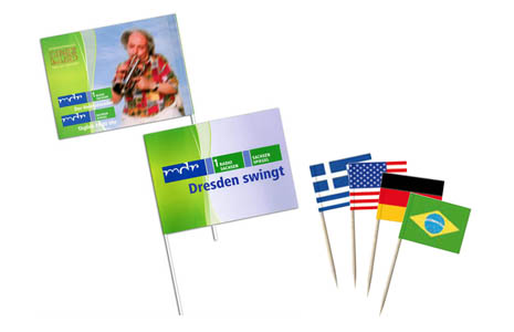 Flags, pennants, or taster picks made of paper