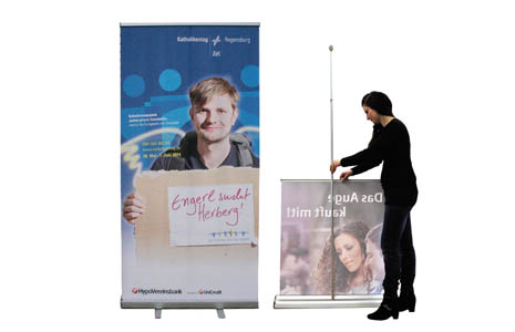 printed roll-up display systems for your indoor advertising