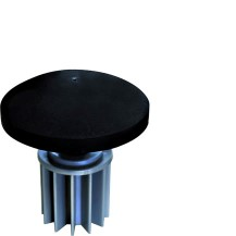 pole head made of PVC for external pole diameters of 60 or 80 mm incl. socket