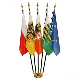five-fold roomstand with national flags and Europe