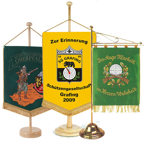 Embroidered table standards and banners