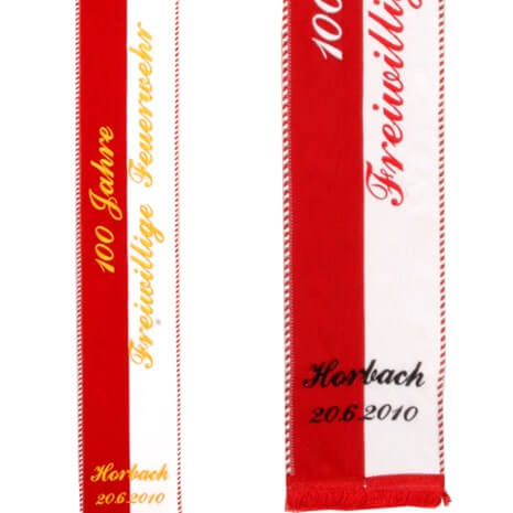 Embroidered memorial ribbons
