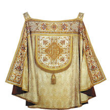 Vesper coat/smoke vesture - liturgical garments for special celebratory parts of the mass