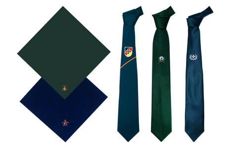 Neckties and scarves for your music club