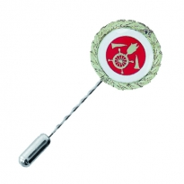 neutral round pin with firebrigade motive