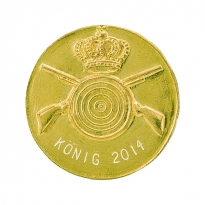 golden king's pin with engraving field