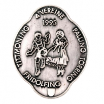 flat stamped pin with costume motive