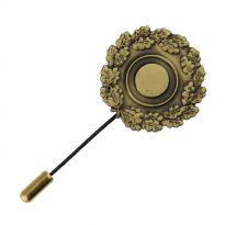 251609 in bronze with stick pin, 27 mm diameter