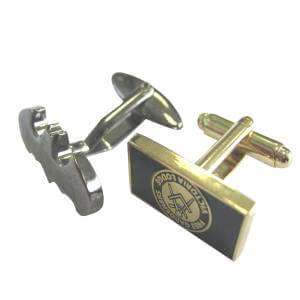 Attachment of metal badges to cufflinks