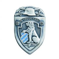 warriors' badge IN TREUE FEST with hollow stamped backside