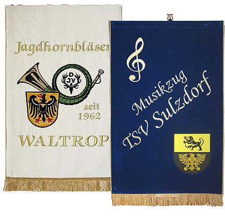 high quality embroidered music stand banners
