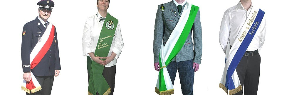 Possibilities of wearing sashes