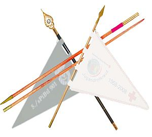 Spear pennant pole for carrying pennants