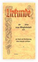 vorgedruckte Urkunde mit Lagertext 550407