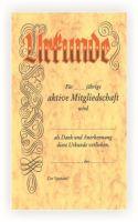 vorgedruckte Urkunde mit Lagertext 550409