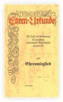 vorgedruckte Urkunde mit Lagertext 550410