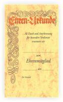 vorgedruckte Urkunde mit Lagertext 550411